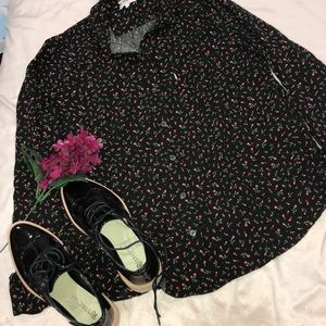 Button down floral Levi's top